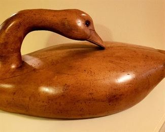 "18"" carved wood goose"
