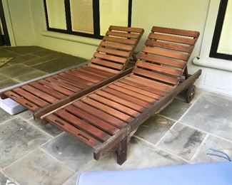 Teakwood Lounge Chairs