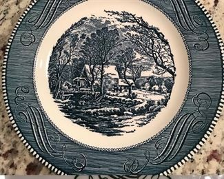 Currier & Ives Collectible Dinner Plate-The Old Grist Mill