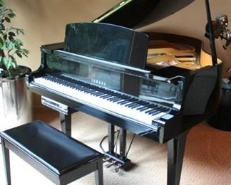 Yamaha Black Baby Grand Piano with Auto Player by PianoDisc