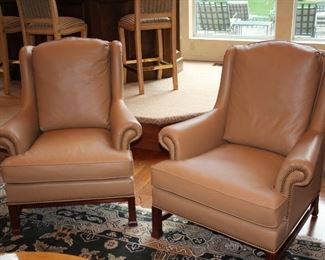 Pair of Nail-Head Chairs