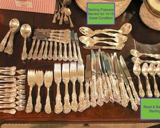 Reed & Barton Sterling Flatware service for 14-15 Great Condition