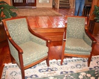 Pair of Upholstered Occasional ChairsC