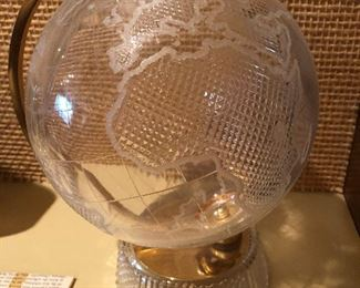 Crystal paperweight globe