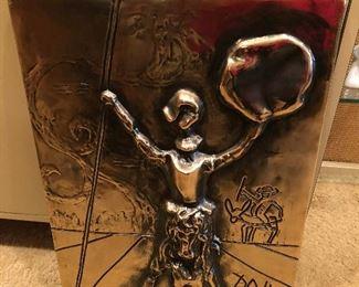 Salvador Dali Don Quixote Gold Patina Limit Edition 103/160
