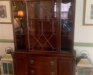 Antique hutch - colonial style.