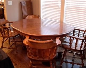 Ethan allen table and four chairs