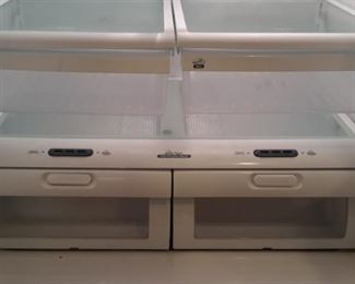Kenmore Elite Refrigerator side by side french doors with freezer on bottom and ice/water dispenser. Model 795.77562600