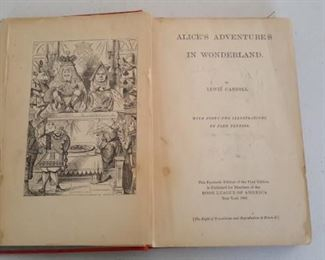 "1941 Facsimile Edition of the first edition, ""Alice's Adventures in Wonderland"""