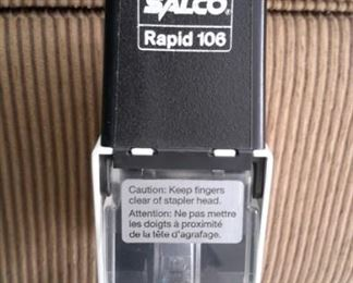 Salco Rapid 106 Electric Flat Saddle Stapler with foot pedal.