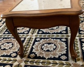 Vintage Walnut/Travertine Top Coffee Table	14x48x19in	HxWxD