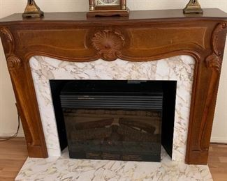Hand Carved Faux Fireplace	47x61x14in	HxWxD