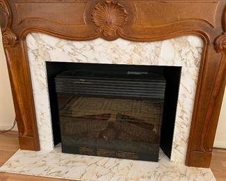 Hand Carved Faux Fireplace47x61x14inHxWxD