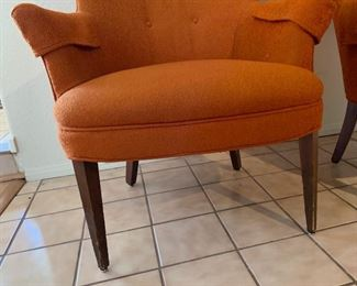 MCM Orange Wingback Chair #2	42x30x29in	HxWxD