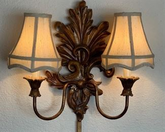 2 Vintage Wall Sconces/Lights