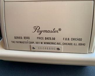 Paymaster 8000 Check Writer