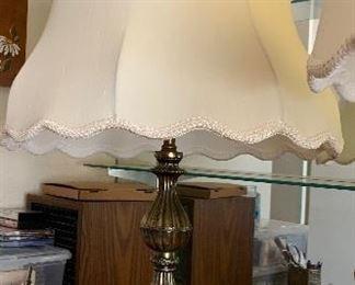 Vintage Glass & Metal Lamp #2