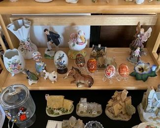 lots of ceramic/porcelain figurines
