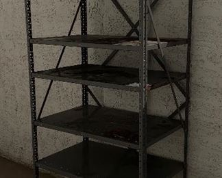 Sturdy metal garage shelf