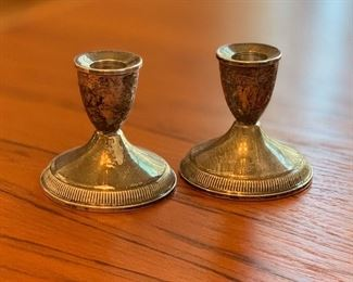 Duchin Creations Sterling Silver Candle Holders