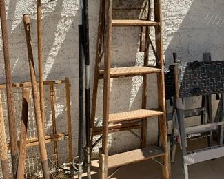Ladders & yard tools