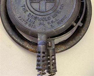 Griswold 8 Waffle Iron Cast Iron