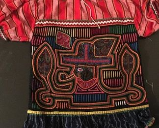 Vintage Authenic San Blas Cuna Indian Molas Clothing, hand made, nice selection to choose