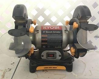 "Ryobi 6"" bench grinder"