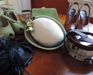 VINTAGE HATS AND SHOES