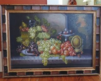 STILL LIFE FRUIT OIL PAINTING