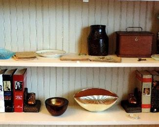 BOOKS AND POTTERY