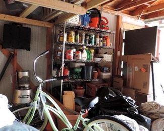 GARAGE ITEMS AND BIKE