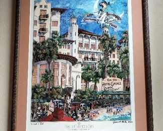 HOTEL GALVEZ FRAMED ART PRINT
