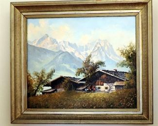 FRENCH ALPS PAINTING