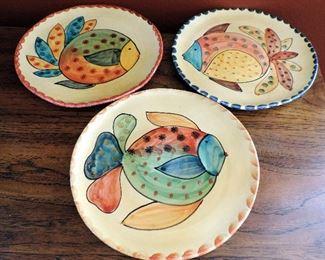 FISH POTTERY PLATES