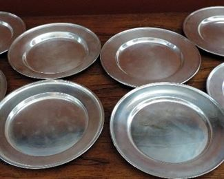 SET OF 8 STERLING SILVER PLATES