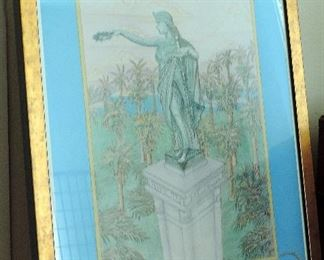 GALVESTON HERO'S MONUMENT FRAMED ART
