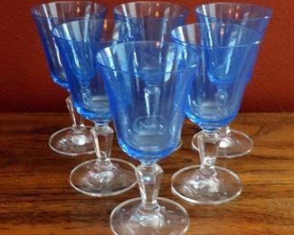 SET OF 6 CRYSTAL GLASSES MILLER ROGASKA
