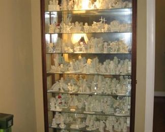 Howard Miller display case with Snow Babies!