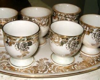Limoge Egg Cup Set
