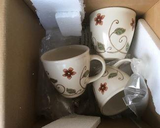 Pfaltzgraff  Mission Flower mugs