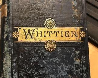Vintage book, Whittier