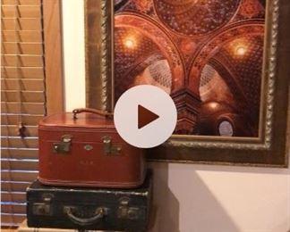 Vintage antique suitcases