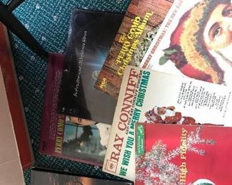 Vintage vinyl records from the 50s and 60s