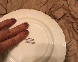 Bristol Crown Ducal purple mulberry transferware plate