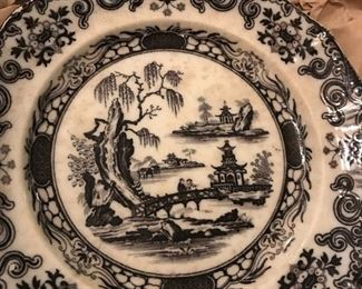 VINTAGE 19C W. ADAMS AND SONS JEDDO IRONSTONE PLATE