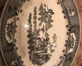 Vintage Black transferware, Two of these beautiful platters available