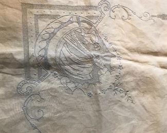 Vintage embroidered Viking ship
