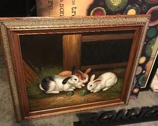 Nice bunny painting