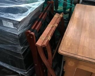 Vintage luggage rack